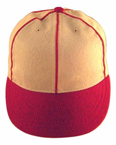 Ideal Cap Co. Red Soutache Braid Vintage Baseball Cap 1930