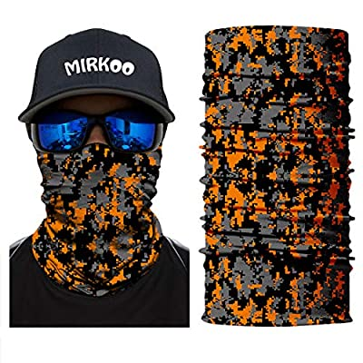 MIRKOO Outdoor Camouflage Face Mask, Breathable Seamless Tube Dust-Proof Windproof UV Protection Motorcycle Bicycle ATV Face Mask for Motorcycling Cycling Hiking Camping Climbing Fishing (OCAMO-349): Clothing