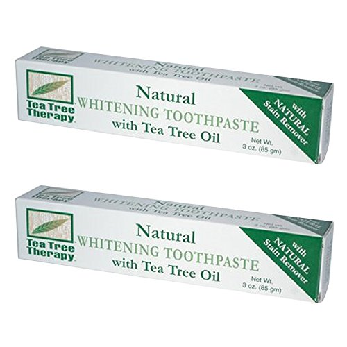 (Tea Tree Therapy Natural Whitening Toothpaste, 3 Ounce (2-Pack))