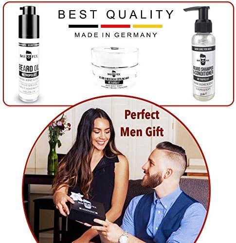 Kit del año cuidado de la barba 2020 ● Cosméticos de excelente calidad hechos en Alemania ● Set de regalo para hombres ● Kit de afeitado de BarFex