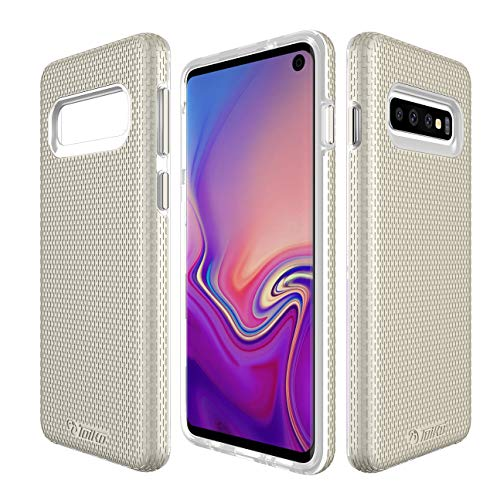 Samsung Galaxy S10 Case,2 in 1 Phone Case for Samsung Galaxy S10 Full-Body Protective Impact Resistant Bumpers Cover for Samsung Galaxy S10 (Gold)