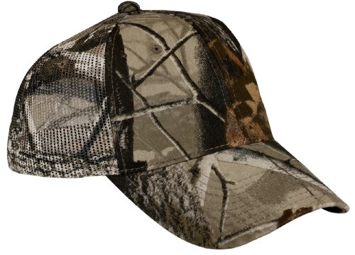 Port Authority Pro Camouflage Series Cap with Mesh Back OSFA Realtree Hardwoods (Camouflage Pro Mesh Cap)