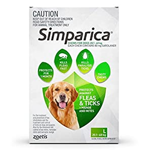 Simparica Large 20.1–40Kg3S Green Click on image for further info.