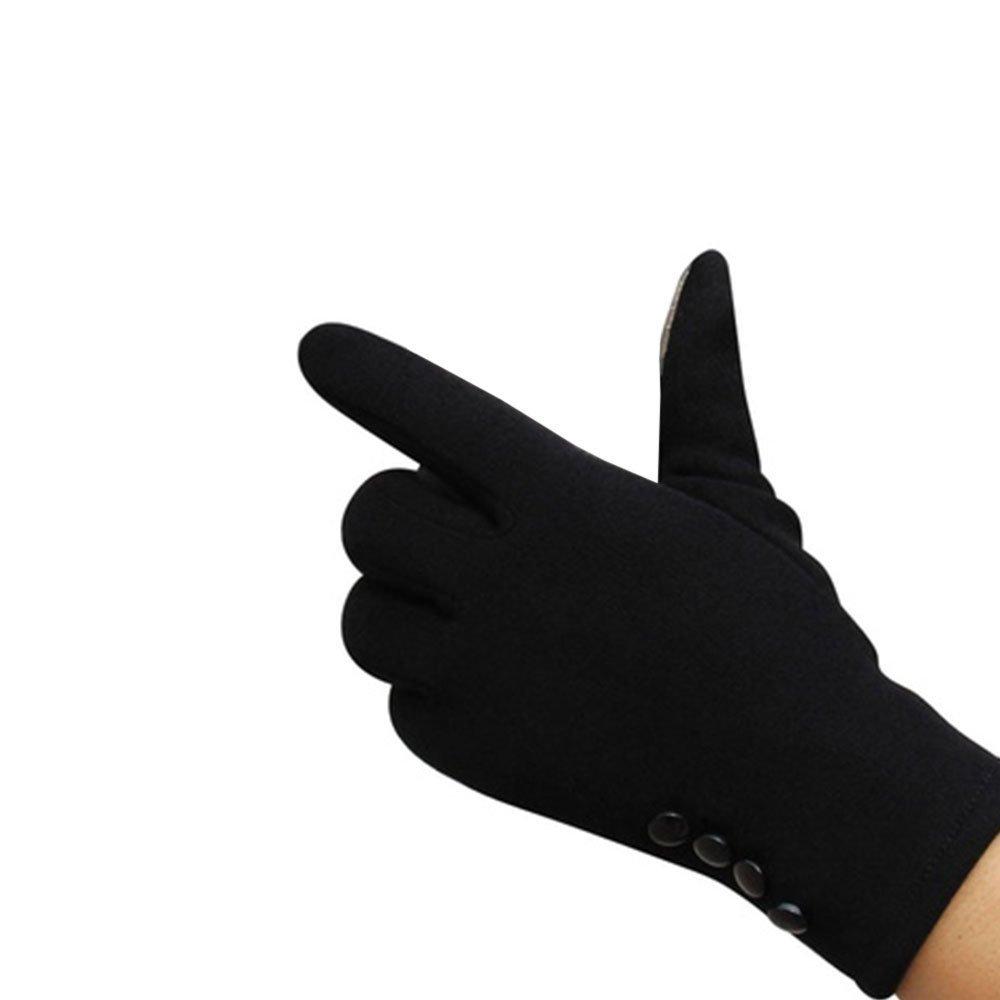 Tiptiper Guanti invernali, Guanti invernali da donna Sport invernali Guanti caldi (neri) Touch Screen Handwear Cotton Finger completa ()