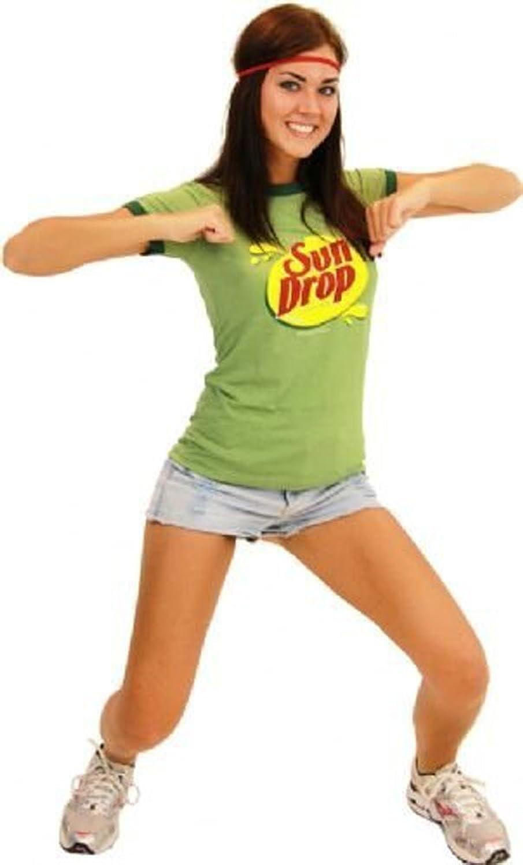 amazoncom sun drop citrus soda green costume juniors t shirt tee clothing - Sundrop Halloween Costume