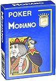 Modiano Poker Cristallo Jumbo Index Plastic Playing Cards (Light Blue)