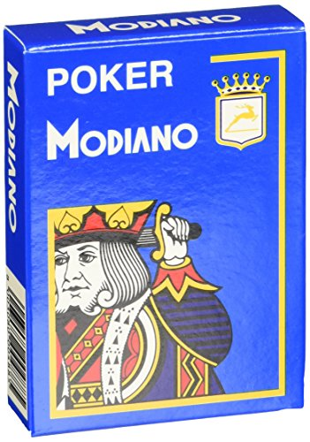- Modiano Index 4, Cristallo 488 - Poker Playing Cards Blue