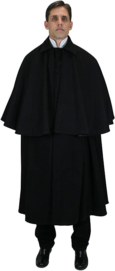 Victorian Men's Clothing, Fashion – 1840 to 1890s 100% Wool Inverness Dress Cloak $223.95 AT vintagedancer.com