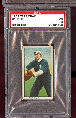 1909 T212 Obak Cigarettes Old English Jim Byrnes PSA 3 VG Graded Baseball Card (Cigarette Baseball Cards)