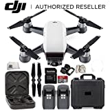 DJI Spark Portable Mini Drone Quadcopter Essential Water Proof Hard Case Bundle (Alpine White)