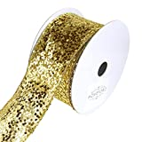 Homeford FRR093075W03540F Ribbon, 2-1/2'', Gold
