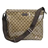 Outlet Gucci Beige Chrystal Gg Coating Canvas Messenger Cross Body Bag...