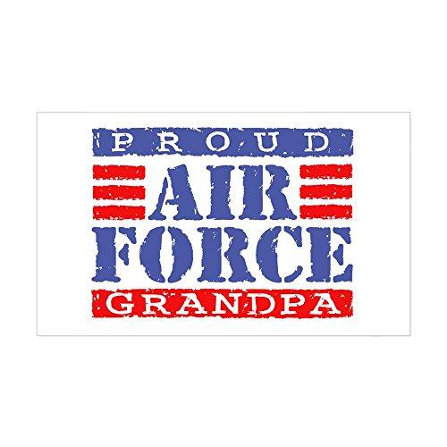 CafePress Proud Air Force Grandpa Rectangle Sticker Rectangle Bumper Sticker Car Decal
