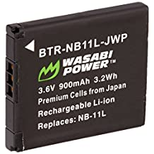 Wasabi Power Battery for Canon NB-11L, NB-11LH and Canon PowerShot A2300 IS, A2400 IS, A2500, A2600, A3400 IS, A3500 IS, A4000 IS, ELPH 110 HS, ELPH 115 HS, ELPH 130 HS, ELPH 135 IS, ELPH 140 IS, ELPH 150 IS, ELPH 160, ELPH 170 IS, ELPH 320 HS, ELPH 340 HS, ELPH 350 HS, SX400 IS, SX410 IS