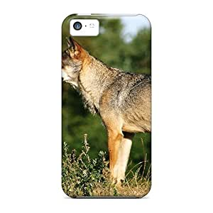 LJF phone case iphone 6 plus 5.5 inch Case Bumper Tpu Skin Cover For Grey Wolf Watching Accessories