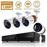 ELEC 1500TVL 960H 8CH HDMI DVR Video CCTV Security Camera System Outdoor/Indoor IR-CUT Night Vision 4 Cameras Surveillance Kit, IP66 Weatherproof, NO Hard Drive