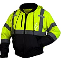 Pyramex Lumen X Class 3 Fleece Bomber Safety Jacket, Hi-Vis Lime 5