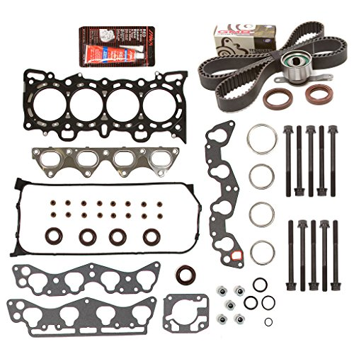 Evergreen HSHBTBK4029 Head Gasket Set Head Bolts Timing Belt Kit 96-00 Honda 1.6 D16Y5 D16Y7 D16Y8 (2000 Honda Civic Cylinder Head compare prices)