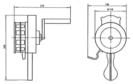 51VpmbKwW6L._SX450_ amazon com vixen horns loud 115db hand crank manual operated