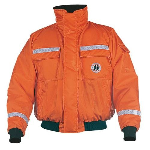 - Mustang Classic Bomber Jacket w/SOLAS Reflective Tape - X-Large - Orange