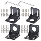 YOTINO 4PCS 42mm Nema 17 Stepper Motor Mounting Bracket with M3 Mounting Screws and 2PCS L-Shaped Allen Wrench for CNC/3D Printer