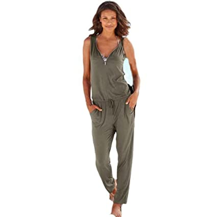 Amazoncom Fashion Jumpsuit Pants For Women Egmy 1 Set Sexy V