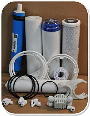 Reverse Osmosis (RO) Service and Maintenance Kit with Replacement Filters and Membrane