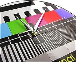 Reloj de Pared Retro TV Color Pantalla de Prueba Reloj de Pared Arte Moderno de La Pared Decoración Fondo Señal de Ajuste Sin Señal Reloj de Pared de TV: Amazon.es: Hogar