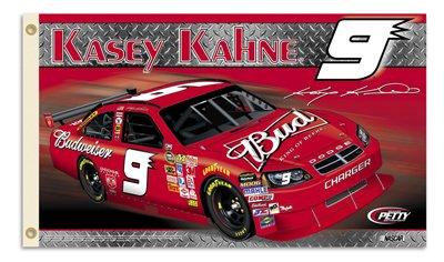 B.S.I. Kasey Kahne Budweiser Two Sided 3' X 5' Flag