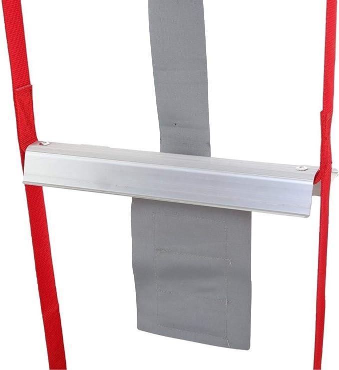 MAYKO Escalera de Cuerda Escape Incendios Escalera Seguridad de Emergencia Resistente al Fuego Ganchos Anillo,Peso del rodamiento 450kg,Ni/ño Adulto Escapar de la Ventana Balc/ón,2m