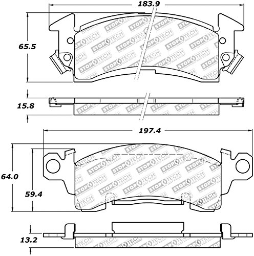 StopTech 309.00520 Street Performance Front Brake Pad ()