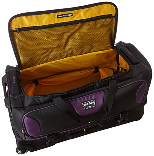 Travelpro Bold 30' Rolling Duffle Bag With Drop Bottom, Navy/Black
