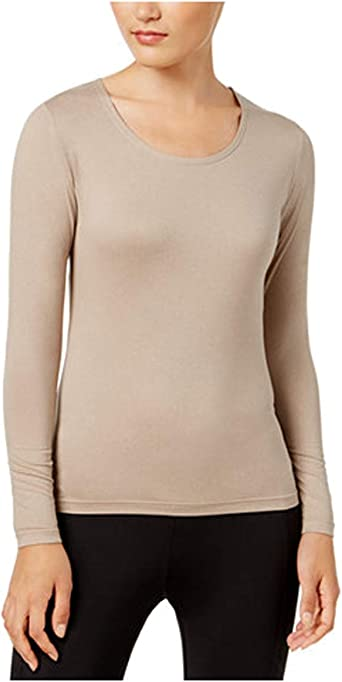32Degrees Womens Heat Scoop Neck Thermal Top