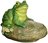 Cheap Design Toscano Thurston the Frog Garden Rock Sitting Toad Statue, Multicolored