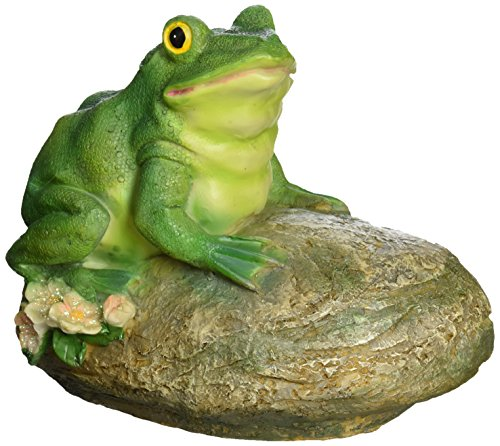 - Design Toscano Thurston the Frog Garden Rock Sitting Toad Statue, Multicolored