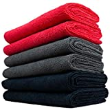 THE RAG COMPANY (6-Pack) 16 in. x 27 in. Professional 320 GSM Microfiber Auto Detailing Towels - The CAR WASH Towel