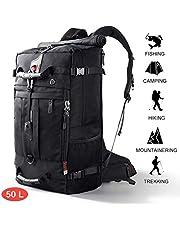 CANSHN 50L 3in1 großer Multifunktion Wanderrucksack Rucksack Herren für Outdoor Camping Reise mit trekkingrucksack