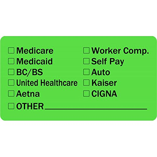 "Insurance Provider Checklist Medical Healthcare Labels 2""x 1"" - 500 Labels Per roll"