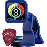 TimbreGear Beast Chromatic Clip-On Tuner Guitar Tuner For - Acoustic Guitar, Electric Guitar, Bass Guitar, Ukulele, Violin, Premium Picks Sampler 20 Pack In Thin, Medium & Heavy Gauges (The Blues)