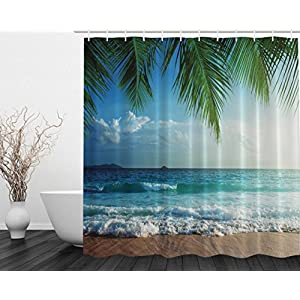 51VppqfGKAL._SS300_ 200+ Beach Shower Curtains and Nautical Shower Curtains
