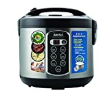 Aroma Professional Rice Cooker / Multicooker, Silver (ARC-2010ASB)