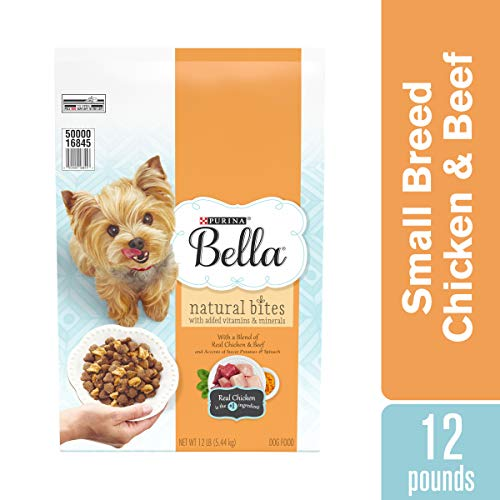 Purina Bella Natural Small Breed Dry Dog Food, Natural Bites With Real Chicken & Beef – 12 lb. Bag