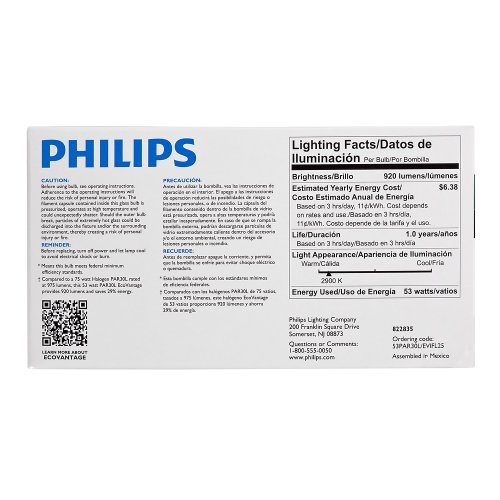 Philips 429365 Halogen PAR30L 75 Watt Equivalent 25 Degree Flood Light Bulb by Philips (Image #4)