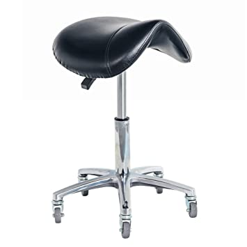 Saddle Rolling Stool Chair For Office Massage Salon Kitchen Spa Bar  Drafting,Adjustable Hydraulic With
