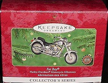 Ornament QXI6774 Hallmark Fat Boy Harley Davidson Motorcycle Milestones 2nd 2000