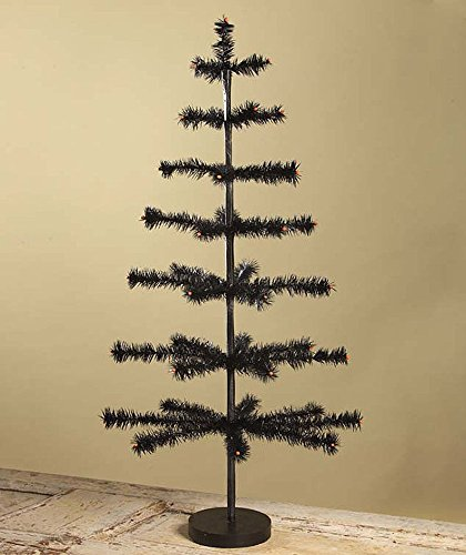 "36"" Tall Artificial Halloween Ornament Tree Bethany Lowe New with Wood Base"