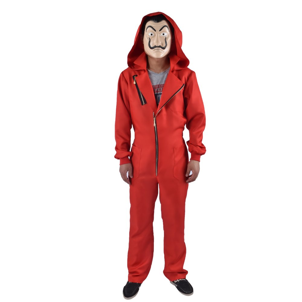 Amazon.com: Kamannicos Salvador Dali Cosplay Costume La Casa De Papel Cosplay Jumpsuits+Mask: Clothing