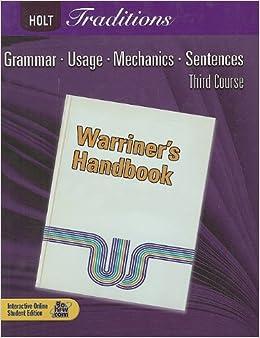 Holt Traditions Warriner's Handbook: Student Edition Grade 9 Third Course 2008