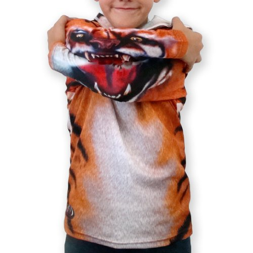 Price comparison product image MouthMan Unisex-Child Tiger Hoodie Shirt Orange 8