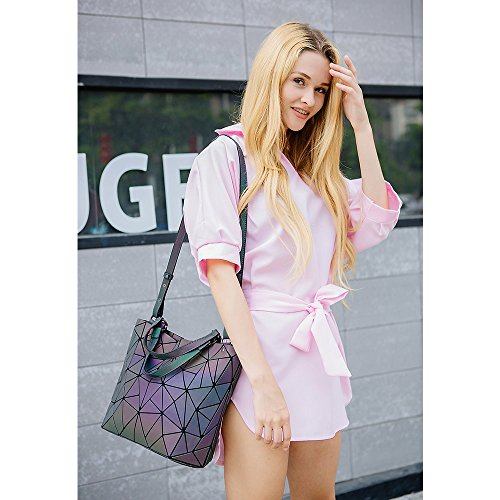 Gift Handbags Tote Large Ideas Handbags Luminesk Large Holographic Purses Girlfriend for Geometric Women and 0wtaq1xxY